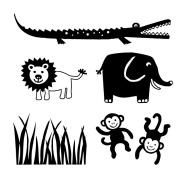 Mini Stamp Jungle Set