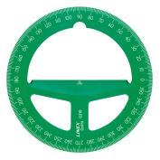 10cm Translucent Green Circular Protractor