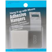 Adhesive Plastic Saw Tooth Hangers 4/Pkg-