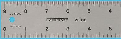 46cm Eluxite Aluminium Centering Ruler
