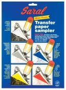 Saral Transfer (Tracing) Paper 22cm . x 28cm . sheets transfer paper sampler