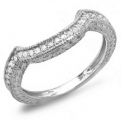 0.33 Carat (ctw) 14k White Gold Round Diamond Ladies Anniversary Wedding Band Enhancer Guard 1/3 CT