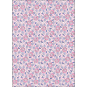 Seasons Heavyweight Background Card Sheet 20cm x 30cm -Spring Roses Pink With Silver Foil