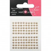 Want2scrap Self-Adhesive Baby Bling 2.5mm 100/Pkg-Le Creme Pearls