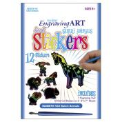 Rainbow Engraving Art Stickers-Safari Animals