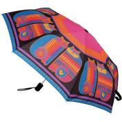 Laurel Burch Compact Umbrella 110cm Canopy Auto Open/Close-Rainbow Cat Cousins