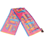 Laurel Burch Scarves-Rainbow Cat Cousines Classic
