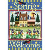 Garden Flags-Welcome Spring
