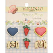 Spring Fling Buttons-Bunny Food