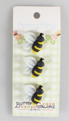Spring Fling Buttons-Bees