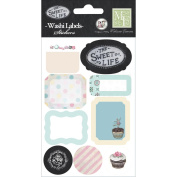 The Sweet Life Washi Stickers 10cm x 15cm -Label