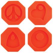 Fuseworks Polar Fuse Glass Casting Moulds-Groovy Pendants