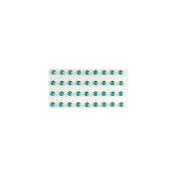 Eyelet Outlet Bling Self-Adhesive Jewels, 5mm, Blue, 100-Pack Multi-Coloured