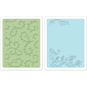 Sizzix Textured Impressions A6 Embossing Folders 2/Pkg-Garden
