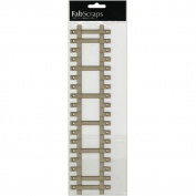 Die-Cut Grey Chipboard Embellishments-Railway Track, 30cm x 7.6cm