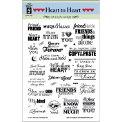 Hot Off The Press Acrylic Stamps 15cm x 20cm Sheet-Heart To Heart Greetings
