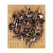 Sunrise Sunset Mechanicals Metal Vintage Trinkets-Mini Brads Assorted Screws, etc. 100/Pkg