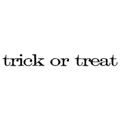 Tim Holtz Mounted Red Rubber Stamp .190cm x 5.1cm -Trick Or Treat
