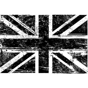 Tim Holtz Mounted Red Rubber Stamp 13cm x 8.9cm -Union Jack