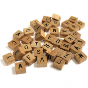 Vintage Collection Mini Wood Alphabet Tiles 40/Pkg
