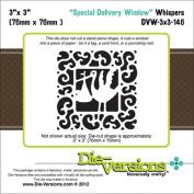 Die-Versions Whispers Die-Special Delivery Window, 7.6cm x 7.6cm