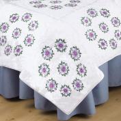 Stamped White Quilt Blocks 46cm x 46cm 6/Pkg-Floral Vine
