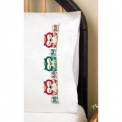 Stamped Pillowcase Pair 50cm x 80cm For Embroidery-Owls