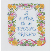 A Sister Is A Special Friend Stamped Cross Stitch Kit-18cm x 23cm