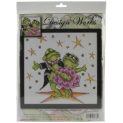 Dancing Frogs Counted Cross Stitch Kit