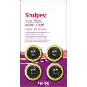 Sculpey Texture Wheel Head Pack 4/Pkg-