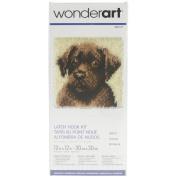 Wonderart Latch Hook Kit 30cm x 30cm -Chocolate Dog