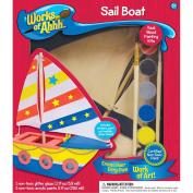 Works Of Ahhh... Wood Paint Kit-Sail Boat