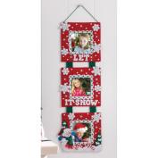 Bucilla Snowman Triple Hanging Frame Felt Applique Wall Hanging Kit, 17cm by 50cm