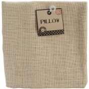 Burlap Pillow Square 46cm x 46cm -Natural