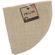 Burlap Pillow Round 46cm -Natural