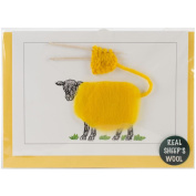 Hand Made Sheep Cards-Colour Knitting