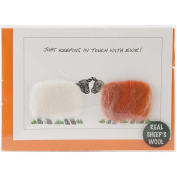 Coats Crochet Hand Made Sheep Cards, Just Keeping in Touch with Ewe Multi-Coloured