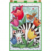 Hello Spring Jewelled Banner Kit-41cm x 60cm