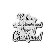 Stampendous Christmas Cling Rubber Stamp 8.9cm x 10cm Sheet-Believe Christmas