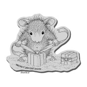 Stampendous House Mouse Cling Rubber Stamp 8.9cm x 10cm Sheet-Gifts To Tie