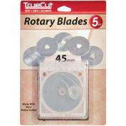 TrueCut Rotary Cutter Replacement Blades-45mm 5/Pkg