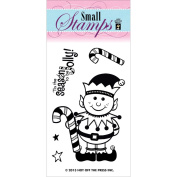 Hot Off The Press Acrylic Stamps 5.1cm x 8.3cm Sheet-Happy Elf