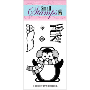 Hot Off The Press Acrylic Stamps 5.1cm x 8.3cm Sheet-Penguin