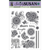 Hot Off The Press Acrylic Stamps 15cm x 20cm Sheet-Simply Susan