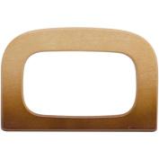 Wood Purse Handle 10cm - 2.2cm x 8.3cm -Natural