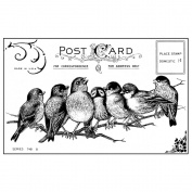 Crafty Individuals Unmounted Rubber Stamp 12cm x 18cm Pkg-7 Cheeky Songbirds