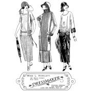 Crafty Individuals Unmounted Rubber Stamp 12cm x 18cm Pkg-The Dressmaker