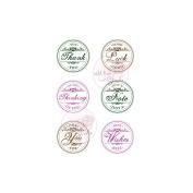 Wild Rose Studio Ltd. Clear Stamp 8.9cm x 7.6cm Sheet-Circle Greetings
