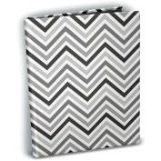 Mini Photo Album 10cm x 15cm Holds 24 Photos-Chevron Black & White
