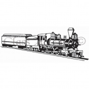 Class Act Cling Mounted Rubber Stamp 7cm x 9.5cm -Long Train